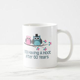 Gift For 60th Wedding Anniversary Hoot Basic White Mug