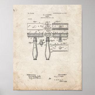 Gillette Razor Patent - Old Look Poster