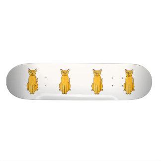 Ginger Red Shorthair Cat. Custom Skate Board