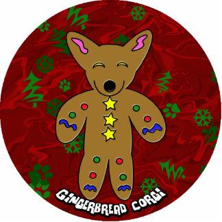 Gingerbread Corgi Christmas Ornament Photo Sculpture Decoration