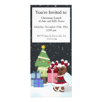Gingerbread Girl Personalized Rack Card