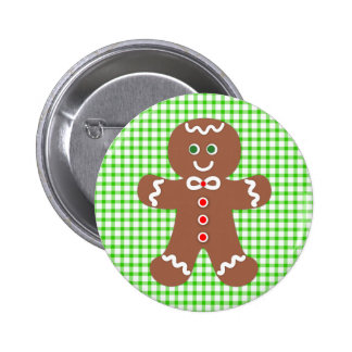 Gingerbread Holiday Boy 6 Cm Round Badge