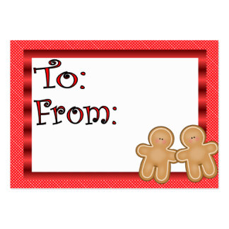 Gingerbread Holiday Gift Tag Pack Of Chubby Business Cards
