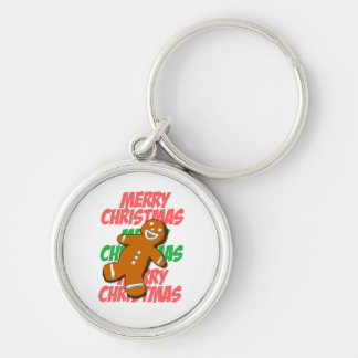 Gingerbread Man Merry Christmas Keychain