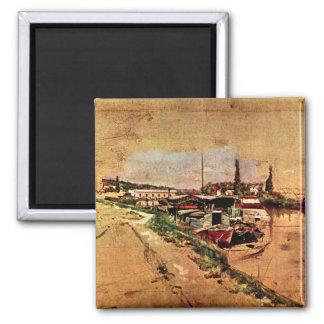 Giovanni Boldini - The Seine at Bougival Square Magnet