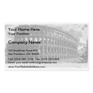 Giovanni Piranesi- View of Flavian Amphitheatre Pack Of Standard Business Cards