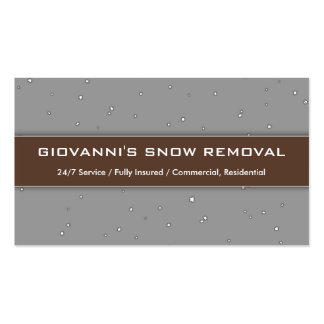 """""""Giovanni's Snow Removal"""" Business Card"""