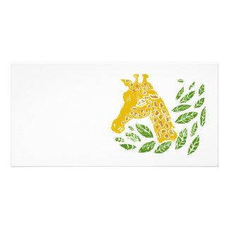 Giraffe Customized Photo Card