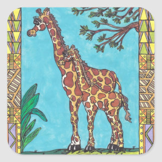 Giraffe Mum and Baby stickers