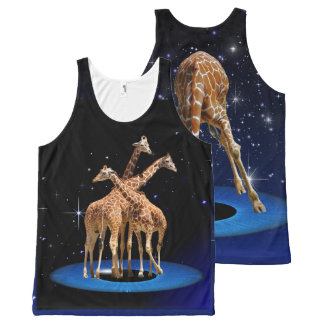 GIRAFFES IN SPACE All-Over PRINT TANK TOP