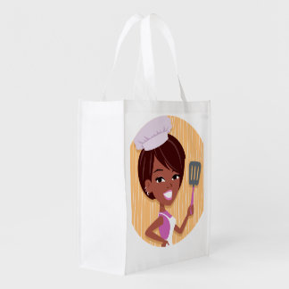 Girl Art Grocery Bag