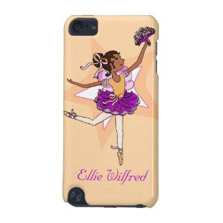 Girl ballerina peach dark hair name ipod case