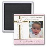Girl Baptism/Christening Favour - Photo Magnet