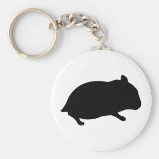 Girl Hamster Key Chain