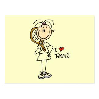 Girl I Love Tennis Tshirts and Gifts Postcard