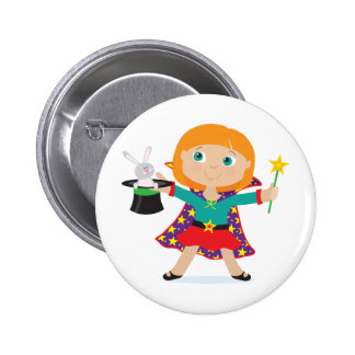 Girl Magician 6 Cm Round Badge