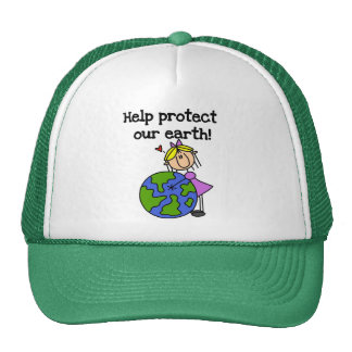 Girl Protect Our Earth Tshirts and Gifts Cap