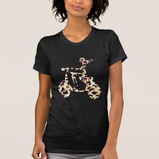 girl scooter pink cheetah tee shirt
