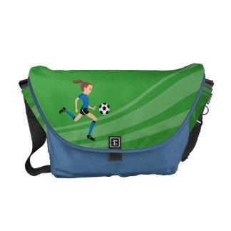 Girl Soccer Player Practice Bag Courier Bag