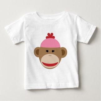 girl sock monkey infant t-shirt