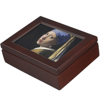 Girl with a Pearl Earring Keepsake Boxes