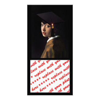 Girl with the Graduation Hat Photo Greeting Card