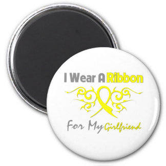Girlfriend - I Wear A Yellow Ribbon Military Suppo 6 Cm Round Magnet