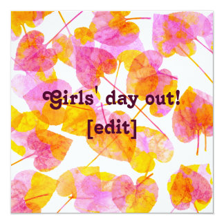 Girls' Day Out - Autumn Leaves Card Invitation