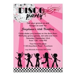 Girls Disco Birthday 13 Cm X 18 Cm Invitation Card