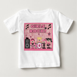 Girls Rock Band Music Pink Shirt Black