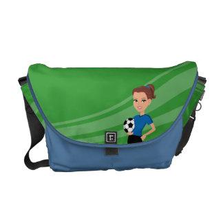 Girl's Soccer Messenger Bag Illustrated