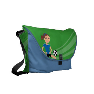 Girl's Soccer Player Personalized Commuter Bags