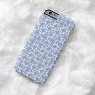 Girly Blue Lace Floral Pattern White iPhone 6 Case