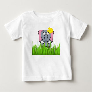 Girly Elephant In The Grass Tshirts