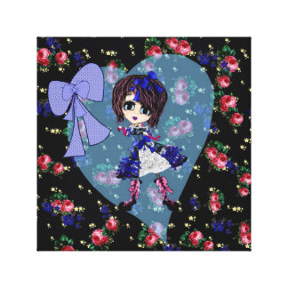 Girly Gifts Harajuku Girl style Gallery Wrapped Canvas