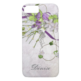 Girly iPhone 7 case Lavender Purple Sweet Peas