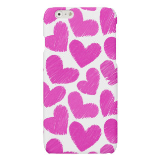 Girly pastel pink love hearts pattern iPhone 6 plus case