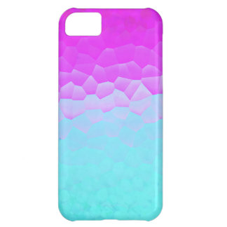 Girly Purple Turquoise Ombre Mosaic Bokeh Pattern iPhone 5C Case