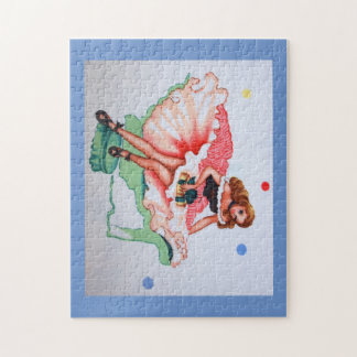 Girly Vintage Fabric Puzzle