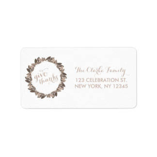 Give Thanks | Thanksgiving Address Labels