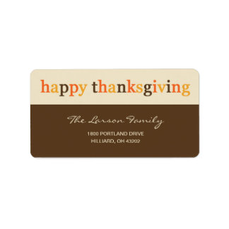 Giving Thanks Thanksgiving Address Label