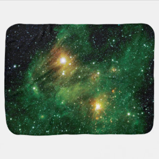 GL490 Green Gas Cloud Nebula Pram blanket