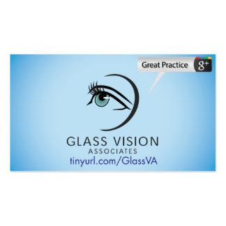 Glass Vision Associates Pack Of Standard Business Cards