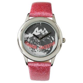 Glitter with Pink Glitter Strap Watch