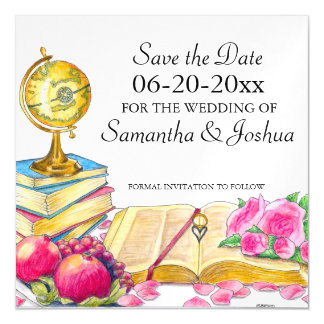 Global Chic Wedding Save the Date Magnetic Card Magnetic Invitations