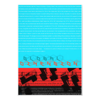 Global Dimension 13 Cm X 18 Cm Invitation Card
