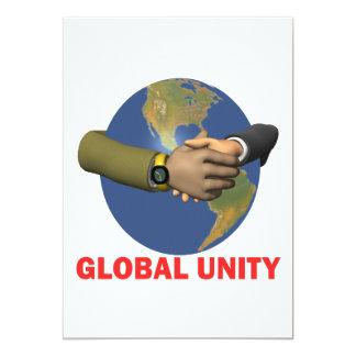Global Unity 13 Cm X 18 Cm Invitation Card