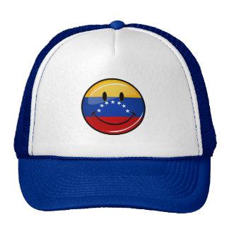 Glossy Round Smiling Venezuelan Flag Cap