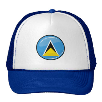 Glossy Round St. Lucia Flag Cap