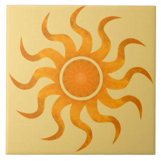 Glowing Sun Desert Gold Tile - Large